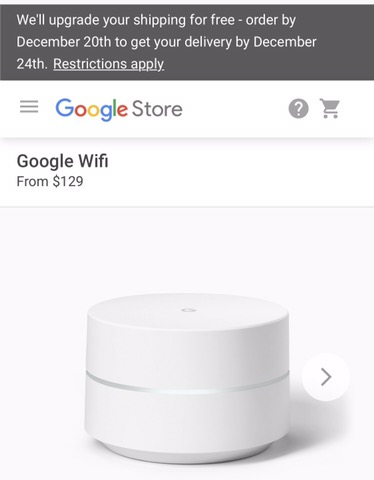 Google Wifi is available again on the #GoogleStore website!!  Not sure how long they will be available.