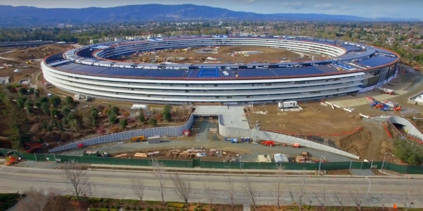 Apple Campus 2 4K drone footage captures auditorium close-ups, much more