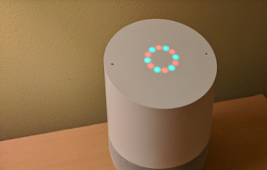 Google Home has custom light patterns when playing holiday music
