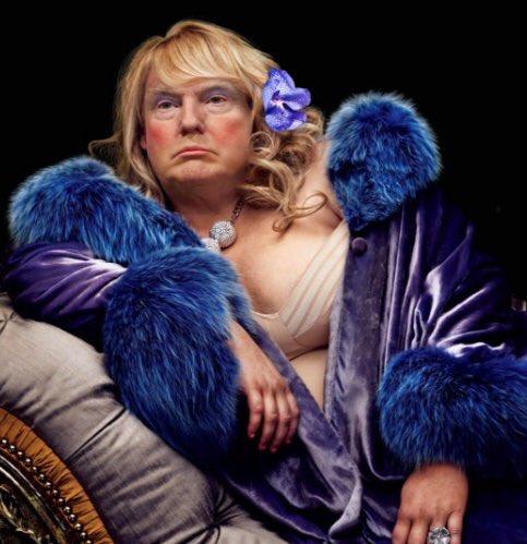 #trump tries #drag